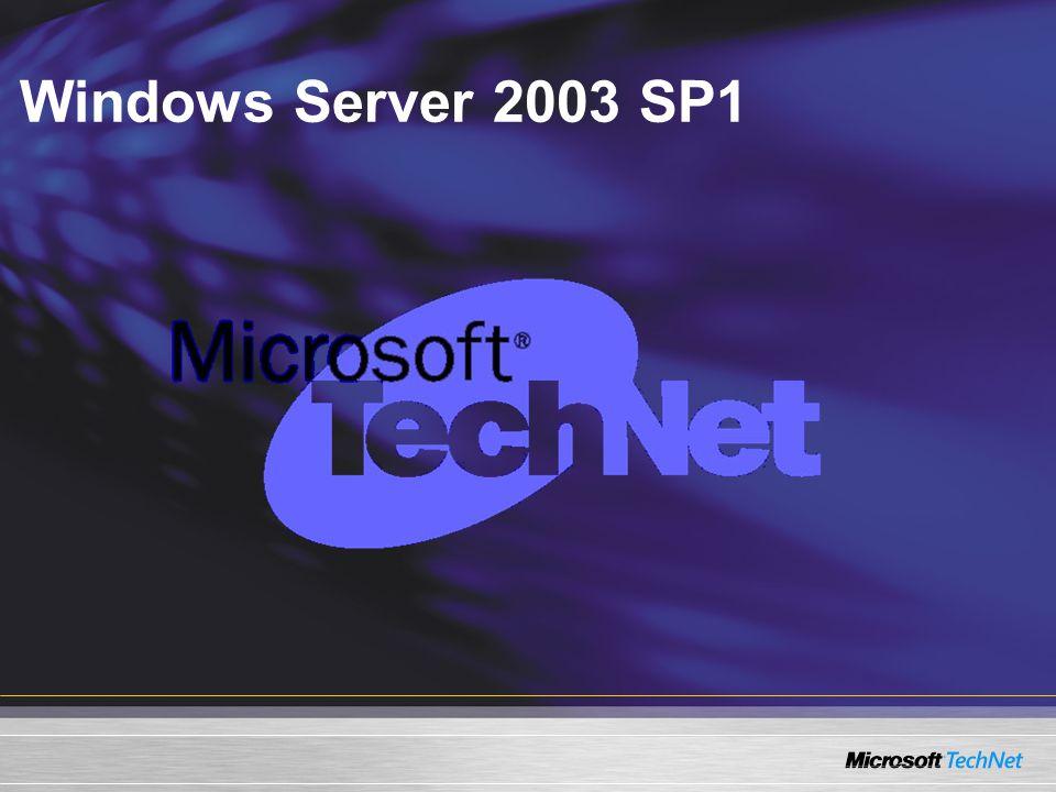 Windows Server 2003 SP1