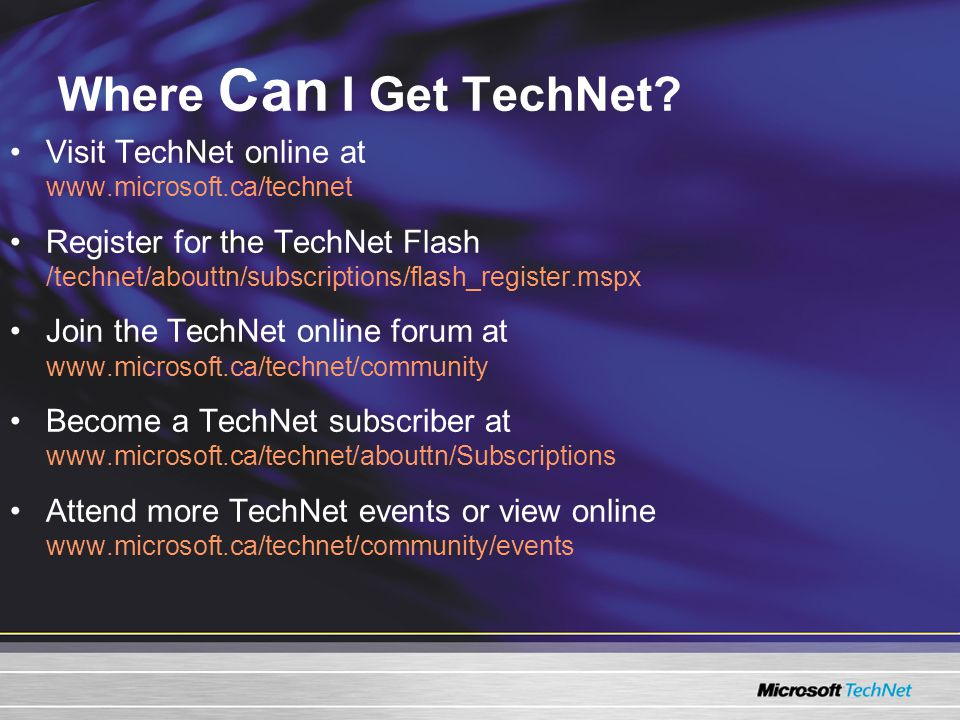 Where Can I Get TechNet.