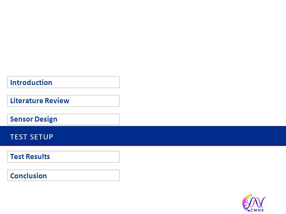 TEST SETUP Introduction Literature Review Sensor Design Test Results Conclusion 31