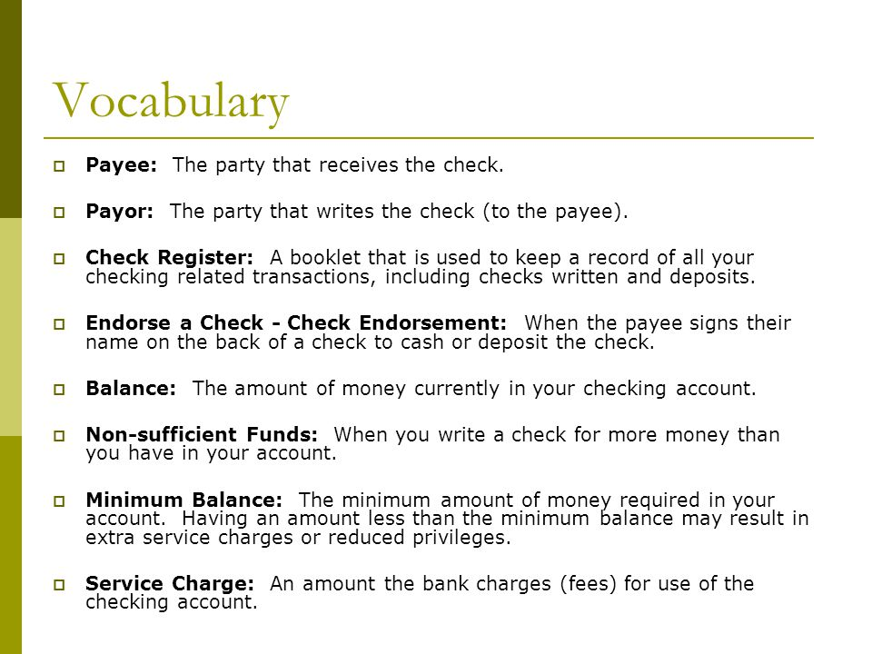 Why a checking account?  Convenience  Safety  Accountability