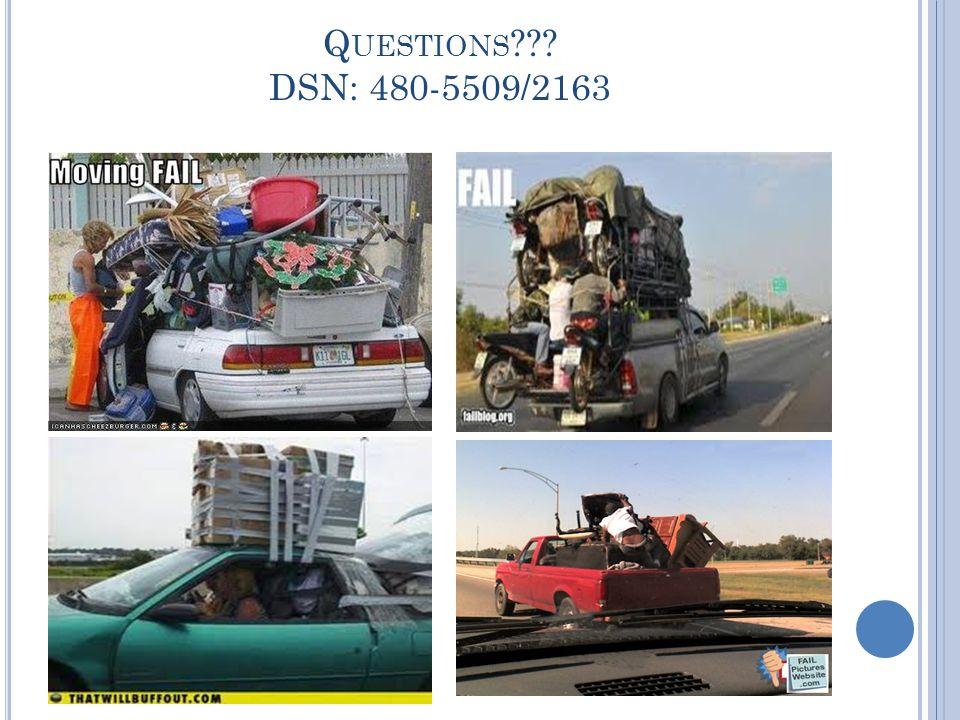 Q UESTIONS DSN: 480-5509/2163