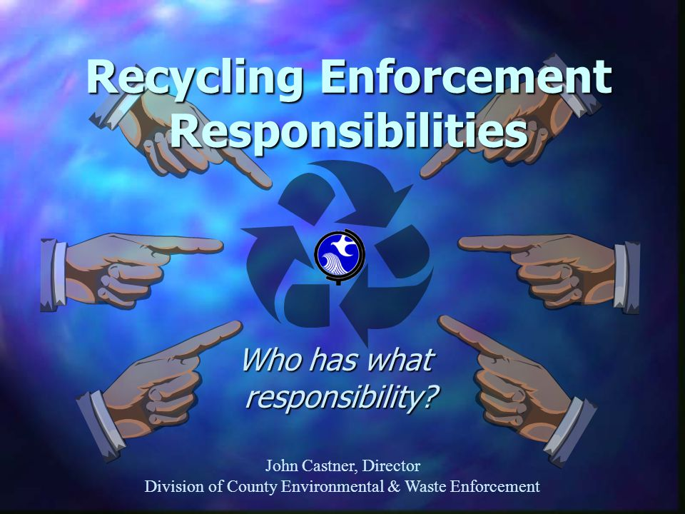 Recycling Sweeps Update Atlantic County v.Hudson County Atlantic County v.