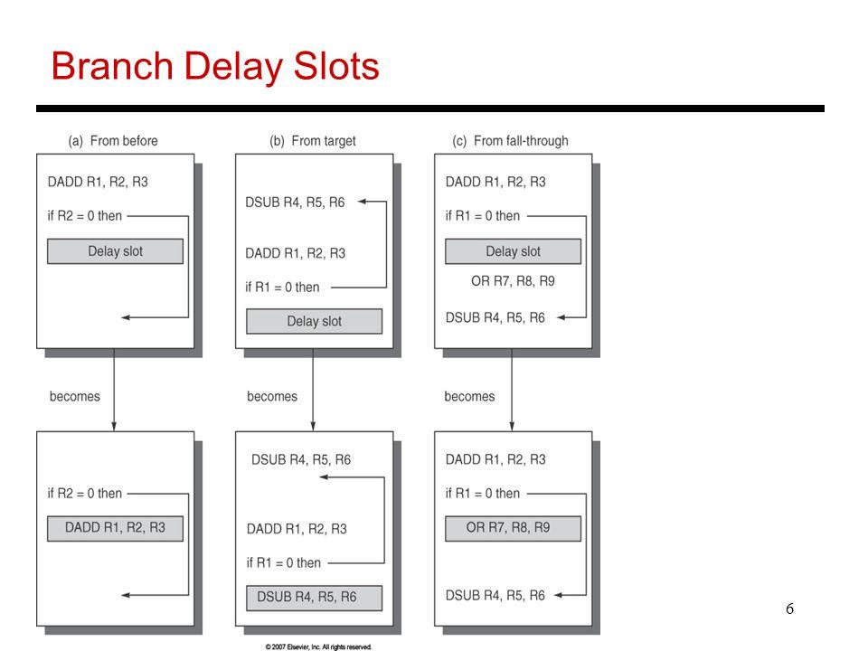 6 Branch Delay Slots