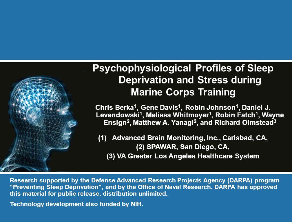 Psychophysiological Profiles of Sleep Deprivation and Stress during Marine Corps Training Chris Berka 1, Gene Davis 1, Robin Johnson 1, Daniel J. Leve