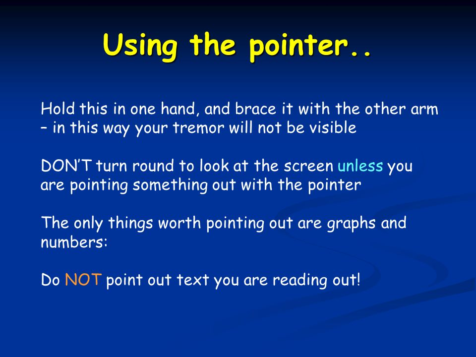 Using the pointer..