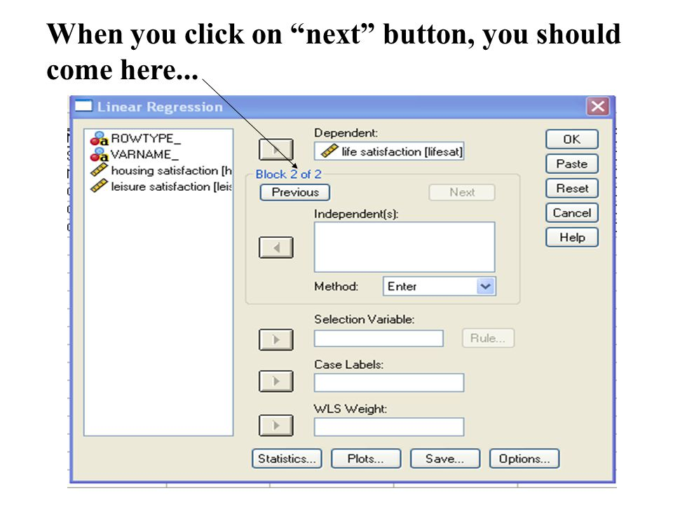 """When you click on """"next"""" button, you should come here..."""