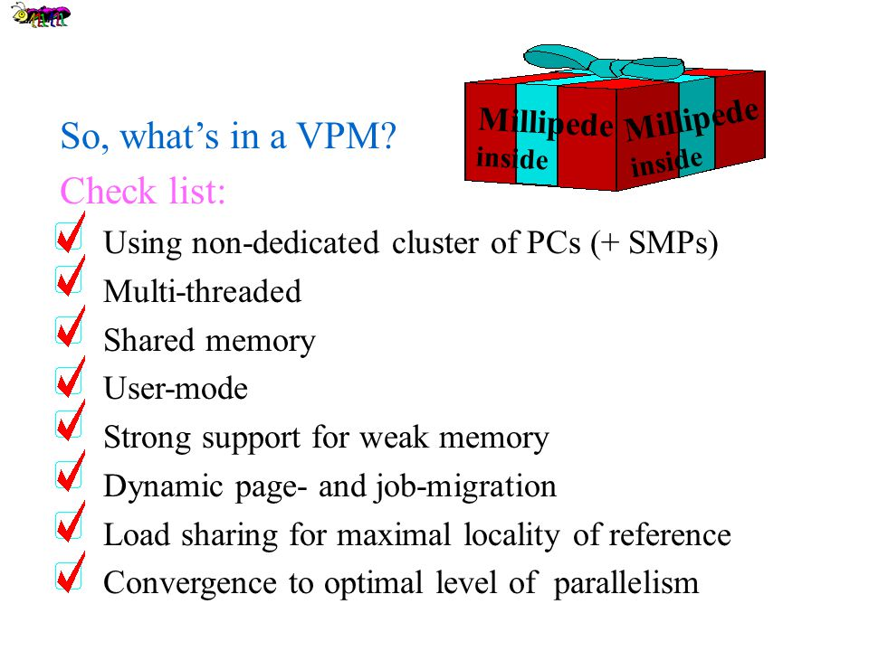 So, what's in a VPM.