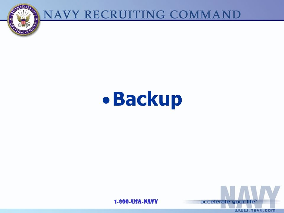 1-800-USA-NAVY  Backup