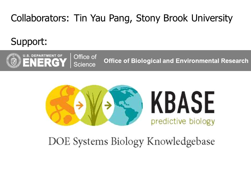 35 Collaborators: Tin Yau Pang, Stony Brook University Support: Office of Biological and Environmental Research