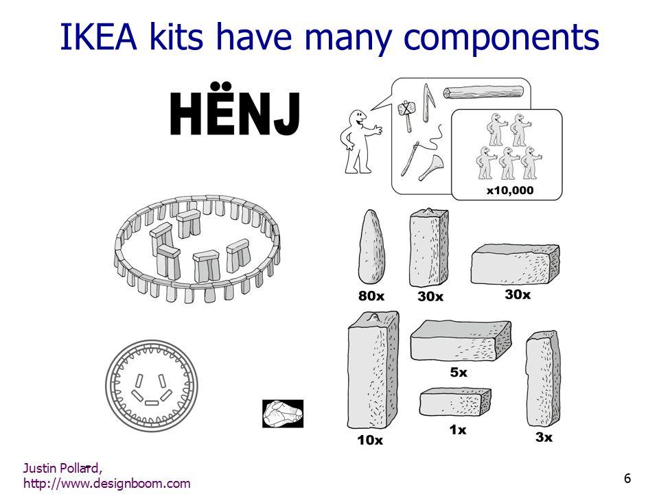Justin Pollard, http://www.designboom.com 6 IKEA kits have many components