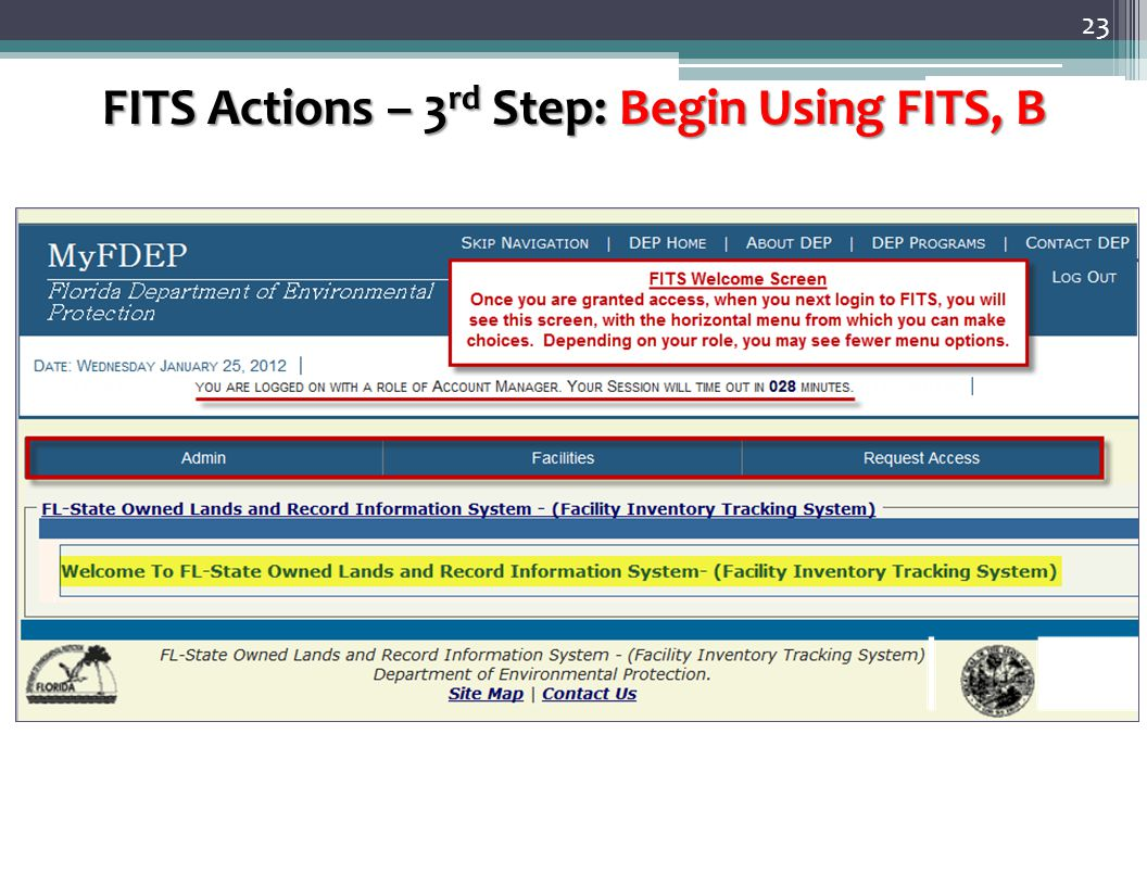 23 FITS Actions – 3 rd Step: Begin Using FITS, B