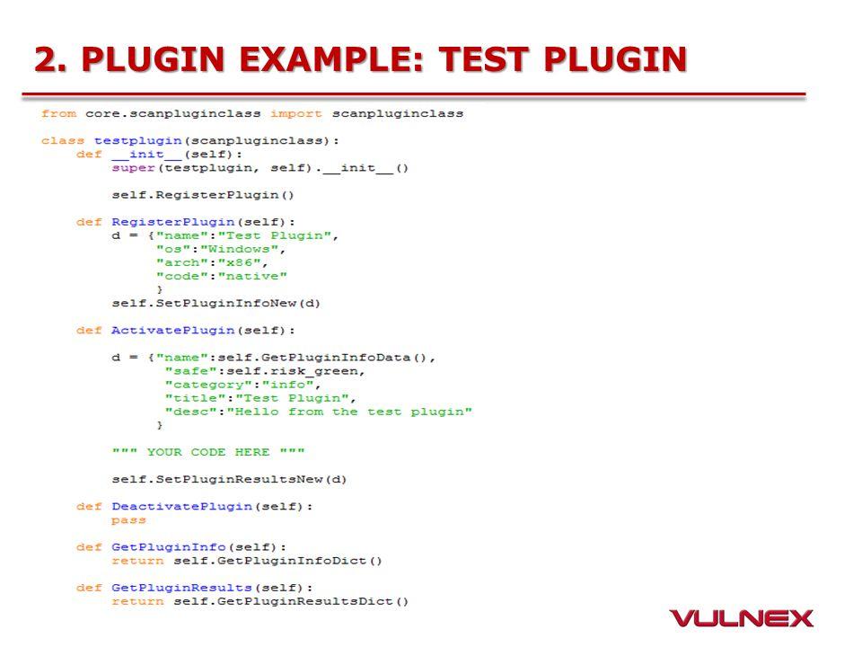 2. PLUGIN EXAMPLE: TEST PLUGIN
