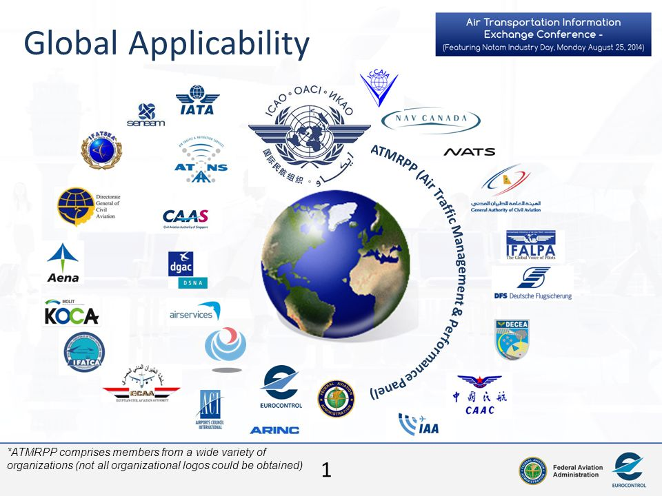 1 Global Applicability *ATMRPP comprises members from a wide variety of organizations (not all organizational logos could be obtained)