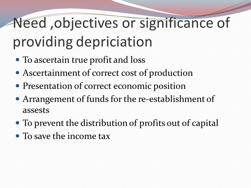 Use of depreciation in other related terms Depreciation- used for physical assets Amortization- used for intangible assets Depletion- used for natural resources Dilapidation- used in contract of lease