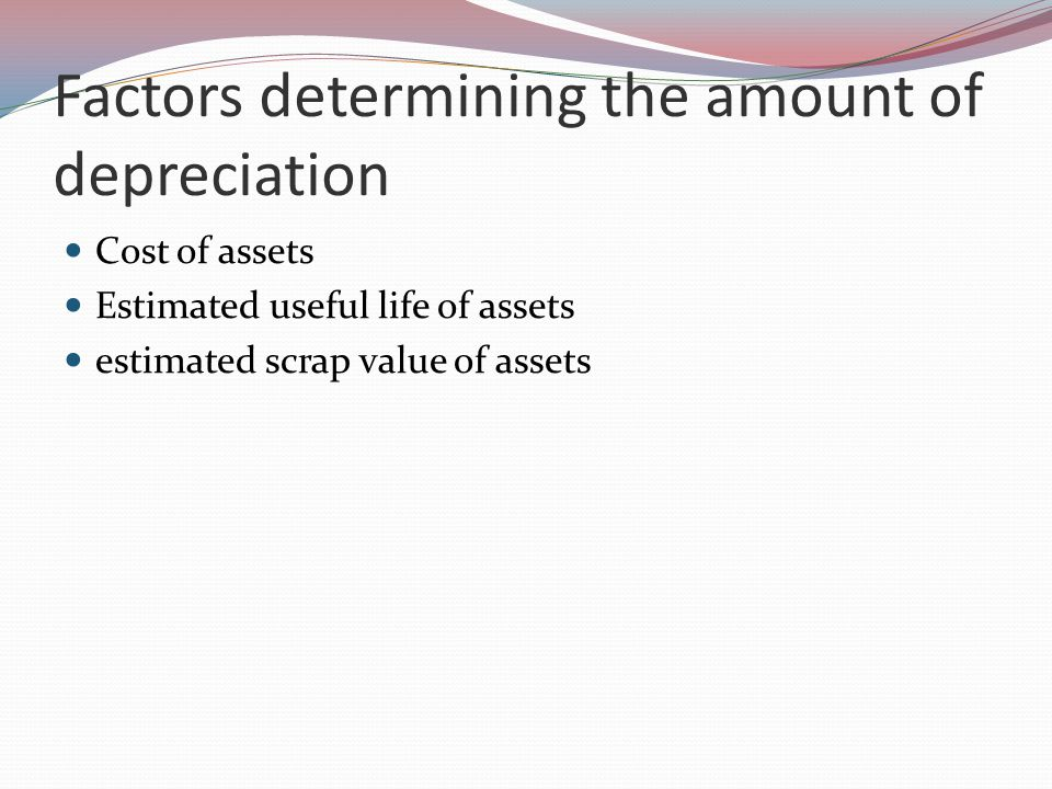 Methods for recording depreciation 1.provision for depreciation account is to be maintained.