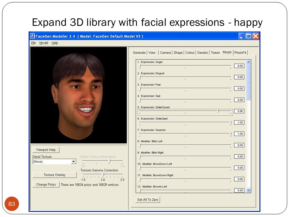 Expand 3D library with facial expressions - happy 83