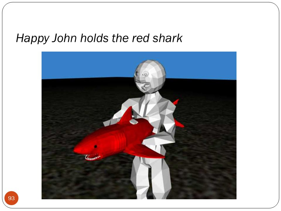 Happy John holds the red shark 93