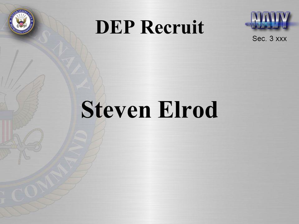 Sec. 3 xxx DEP Recruit Steven Elrod
