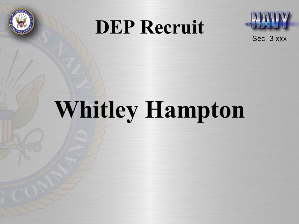 Sec. 3 xxx DEP Recruit Whitley Hampton