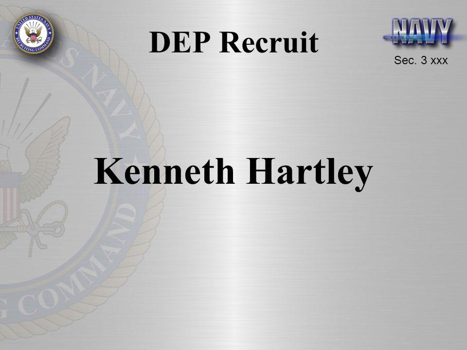 Sec. 3 xxx DEP Recruit Kenneth Hartley