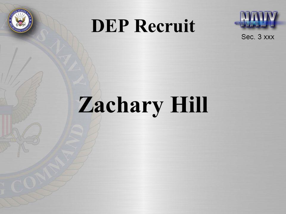Sec. 3 xxx DEP Recruit Zachary Hill