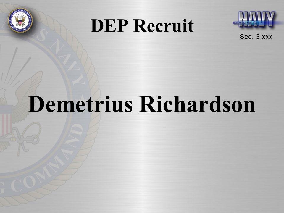 Sec. 3 xxx DEP Recruit Demetrius Richardson