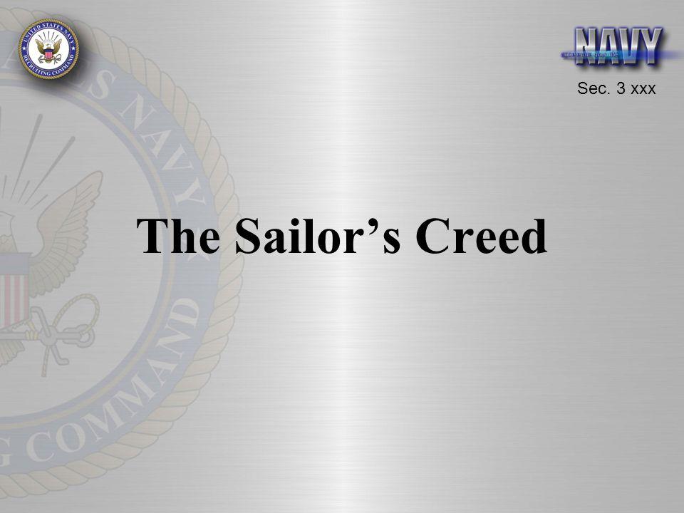 Sec. 3 xxx The Sailor's Creed