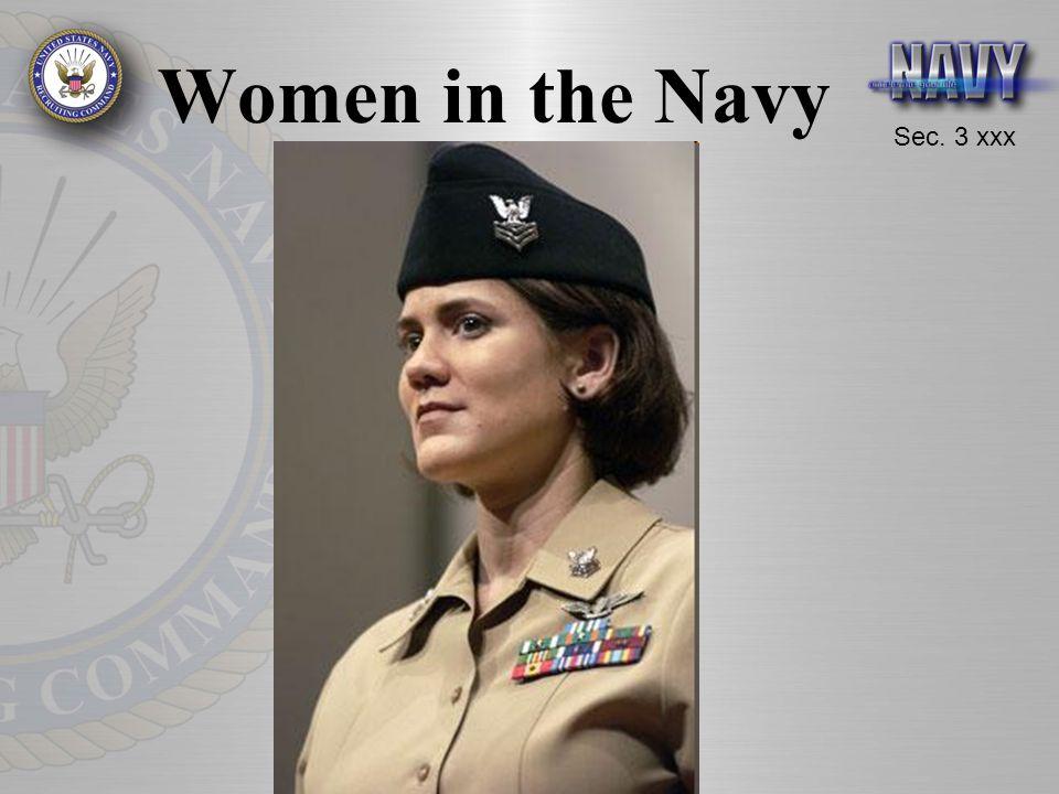 Sec. 3 xxx Women in the Navy