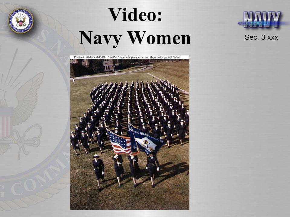Sec. 3 xxx Video: Navy Women