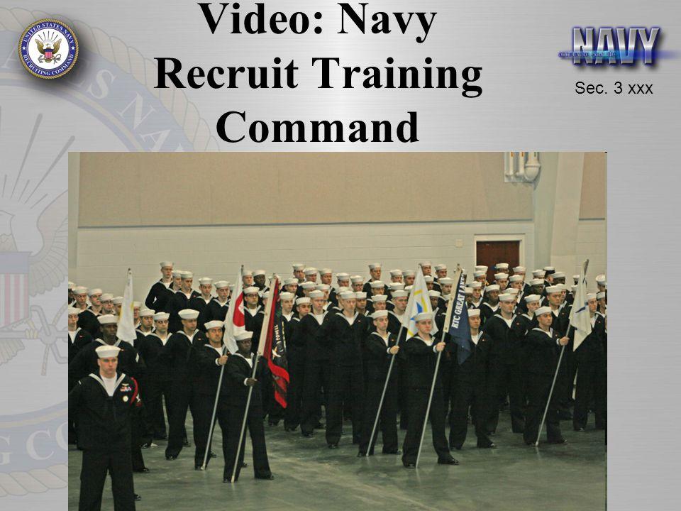 Sec. 3 xxx Video: Navy Recruit Training Command