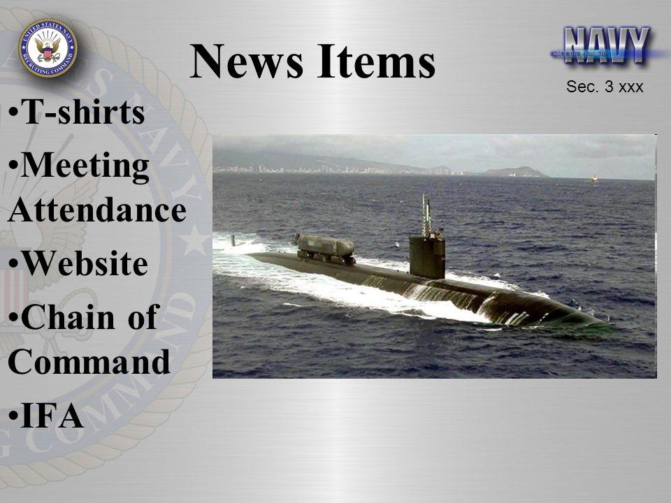 Sec. 3 xxx News Items T-shirts Meeting Attendance Website Chain of Command IFA
