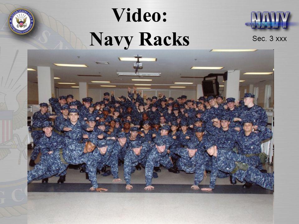 Sec. 3 xxx Video: Navy Racks