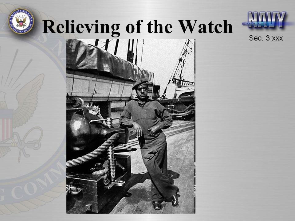 Sec. 3 xxx Relieving of the Watch
