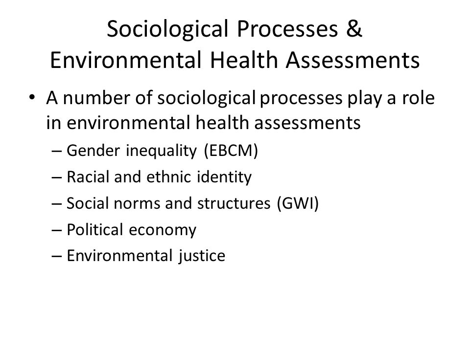 Conclusion Making connections between health and the environment is often first achieved by those who suffer environmental illnesses.