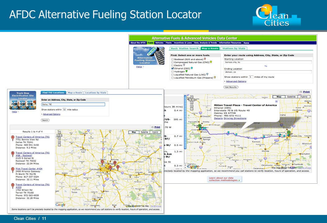Clean Cities / 11 AFDC Alternative Fueling Station Locator