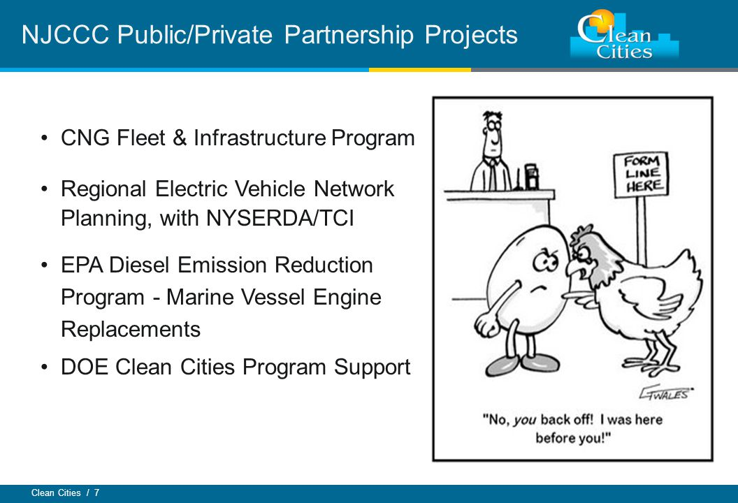 Clean Cities / 8 CC Program Support Contract This is the bread & butter of the CC Program Major tasks: Annual Report of Petroleum Displacement Quarterly Alternative Fuel Price Reports Maintain data for Alternative Fuel Station Locator Stakeholder meetings, fuel-specific workshops, events Dedicated fleet outreach