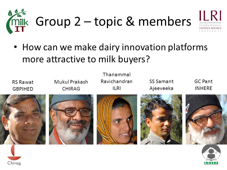 Group 2 – topic & members How can we make dairy innovation platforms more attractive to milk buyers.
