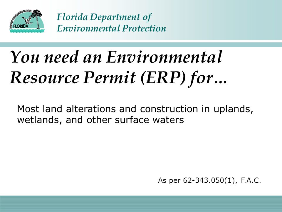 Florida Department of Environmental Protection One of the 23% out of compliance