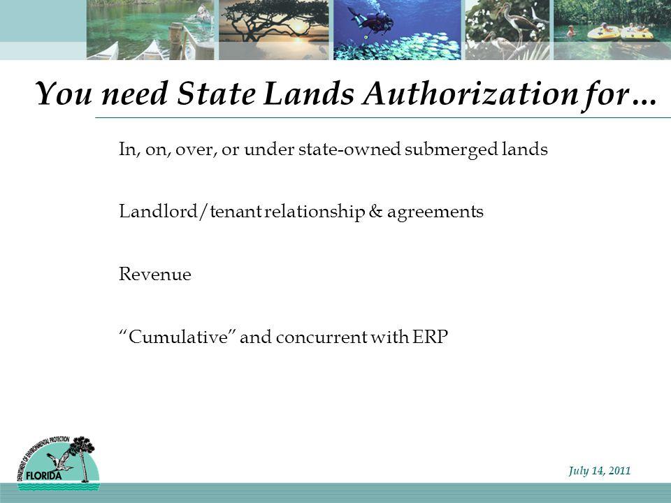 Florida Department of Environmental Protection Key factors in enforcement: allowable .