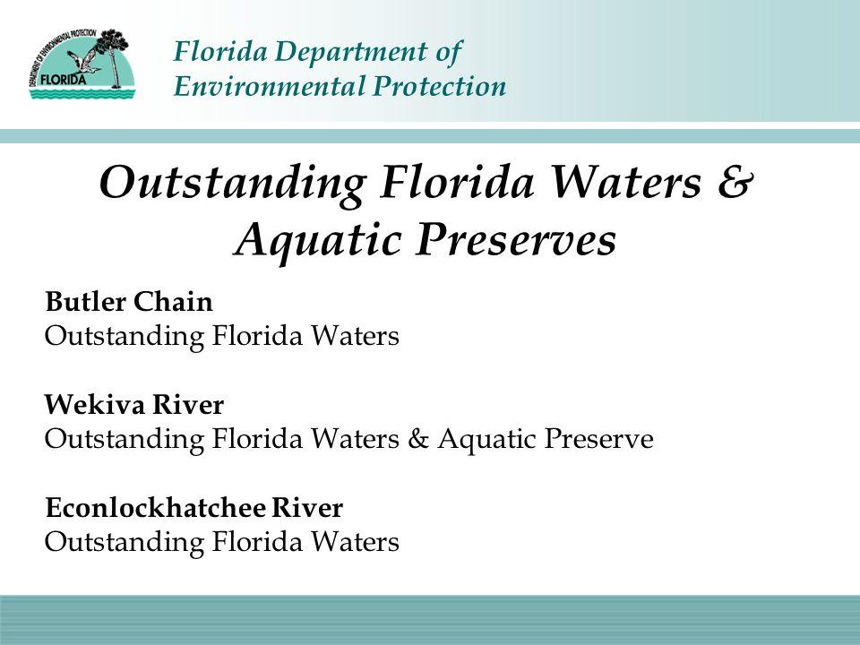 Florida Department of Environmental Protection Impaired Waters Crane Strand & Long Branch Lake Carlton, Beauclair and Apopka Lake Jesup