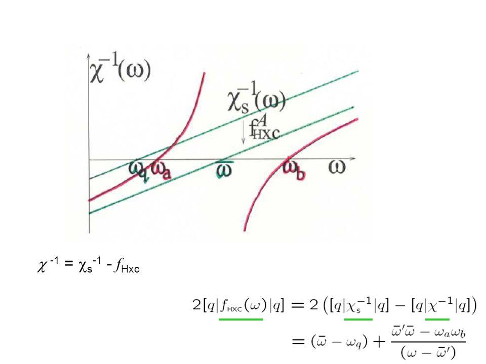 -1 =  s -1 - f Hxc