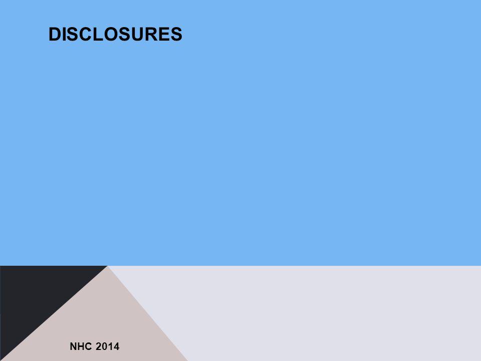 DISCLOSURES NHC 2014