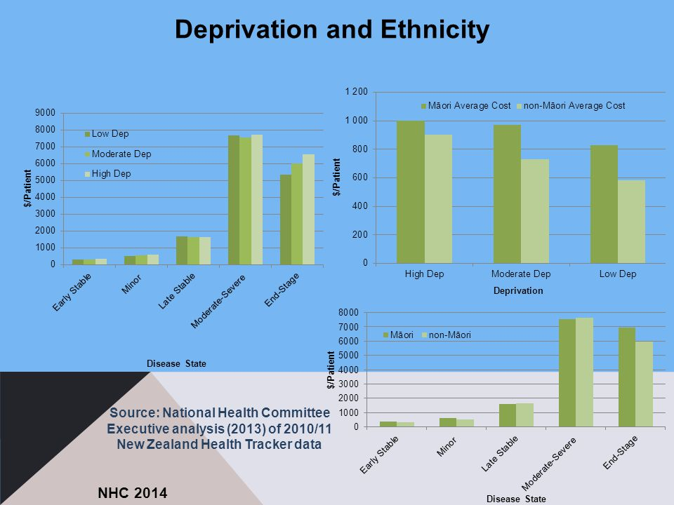 Source: National Health Committee Executive analysis (2013) of 2010/11 New Zealand Health Tracker data NHC 2014 Deprivation and Ethnicity