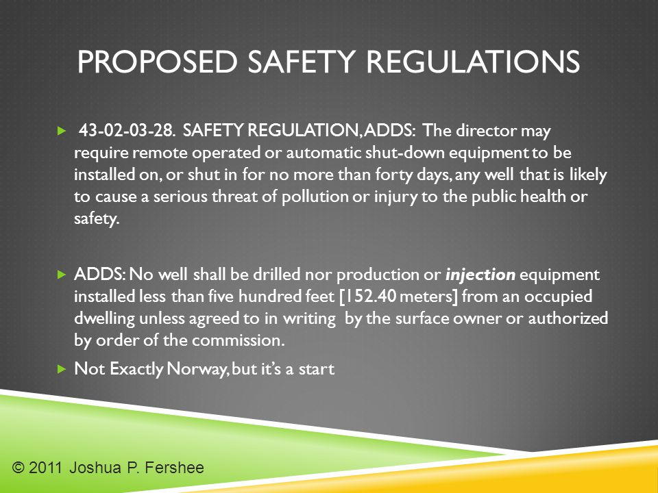 PROPOSED SAFETY REGULATIONS  43-02-03-28.