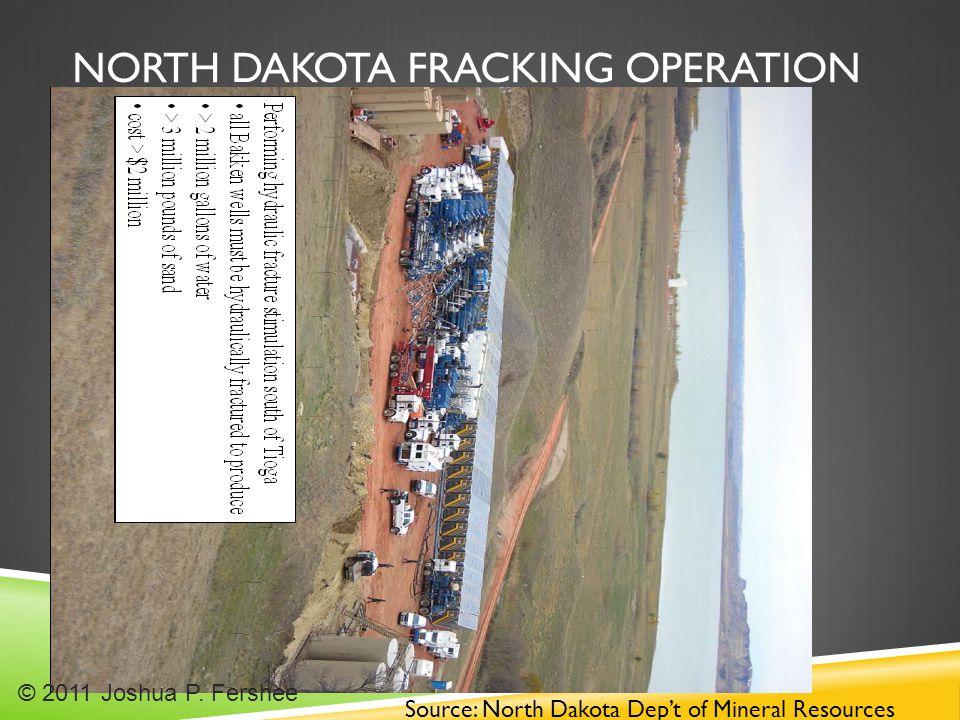 NORTH DAKOTA FRACKING OPERATION Source: North Dakota Dep't of Mineral Resources © 2011 Joshua P.