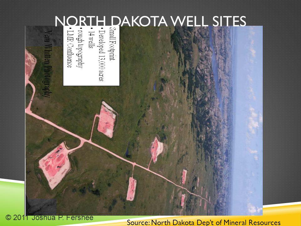 NORTH DAKOTA WELL SITES Source: North Dakota Dep't of Mineral Resources © 2011 Joshua P. Fershee