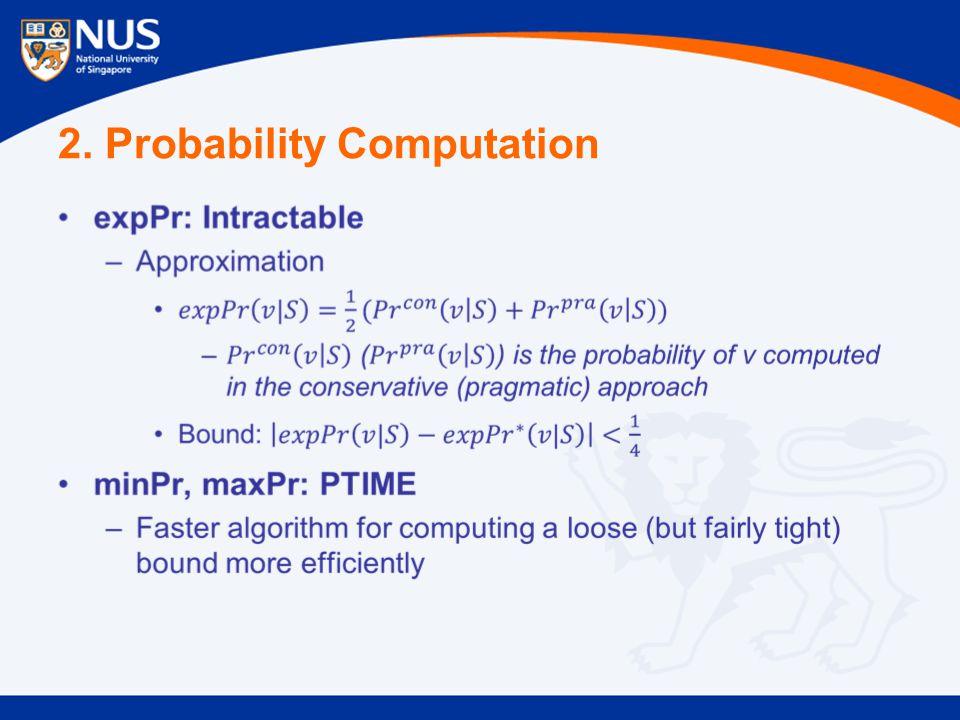 2. Probability Computation