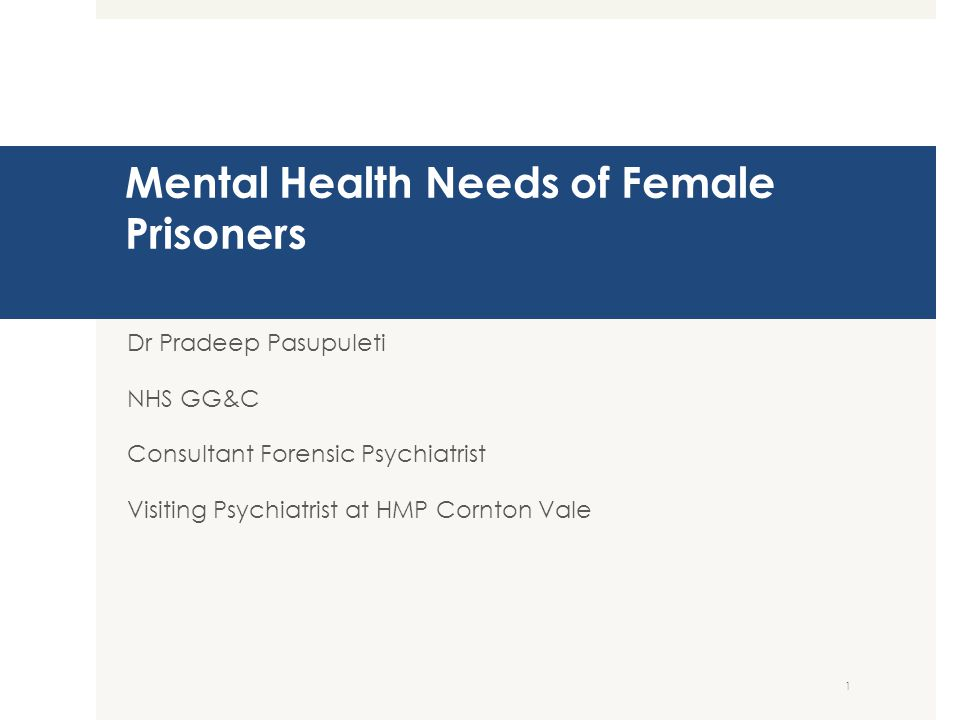 Today's talk  20 slides  Case examples  Evidence on prevalence of mental disorder is prisons  HMP Cornton Vale stats  Challenges 2