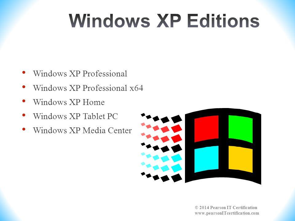 Vista/7 Starter Vista/7 Home Basic Windows Vista/7 Home Premium Windows Vista Business Windows Vista/7 Enterprise Windows Vista/7 Ultimate © 2014 Pearson IT Certification www.pearsonITcertification.com