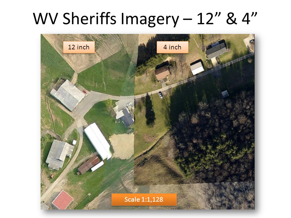 "WV Sheriffs Imagery – 12"" & 4"" Scale 1:1,128 12 inch 4 inch"